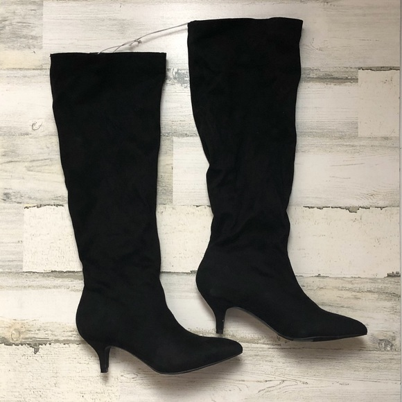 Target Shoes | Boots Black Micro Suede